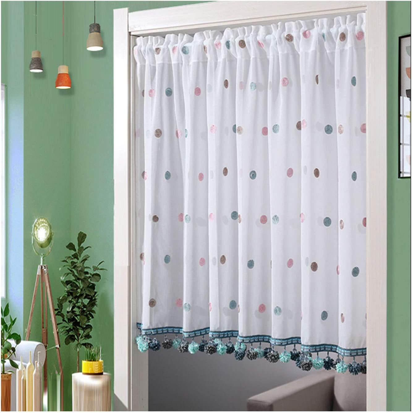 F-XW Tier Curtains Embroidered Half Sale Special Price 5 ☆ popular Treatment Window Cafe for