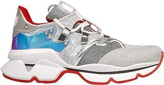 Christian Louboutin Luxury Fashion Womens 1191403SV20 Silver Sneakers | Season Permanent