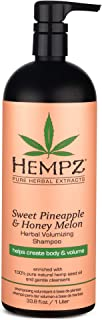 Hempz Sweet Pineapple and Honey Melon Herbal Volumizing Shampoo, 33.8 oz. - Natural Thickening and Repair Product for Wome...