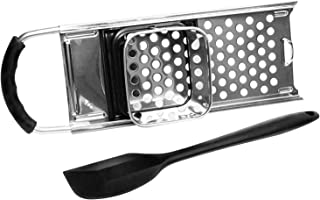 Jork Products Spaetzle Noodle Dumpling Maker, Stainless Steel, Comfort Grip Handle, Includes Silicone Spatula