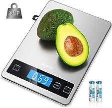 Balance de Cuisine Electronique, HOMEVER Balance Alimentaire Numérique de Précision 1g en Acier Inoxydable, Capacité 15kg/...
