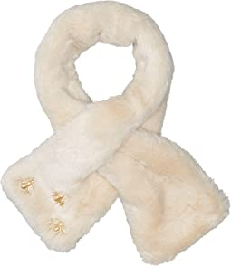 BSS3545 Faux Fur Scarf with Bug Detail