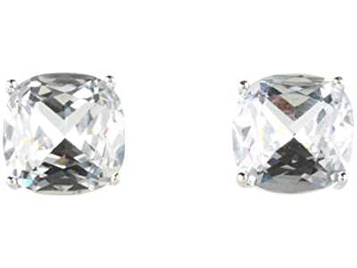 Kate Spade New York Small Square Studs (Clear/Silver) Earring