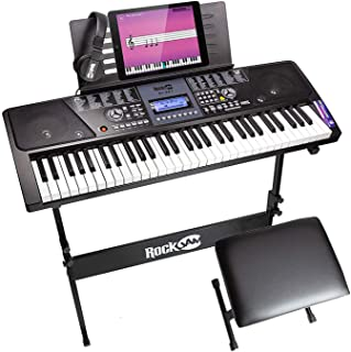 RockJam 61 Key Keyboard Piano With LCD Display Kit, Keyboard