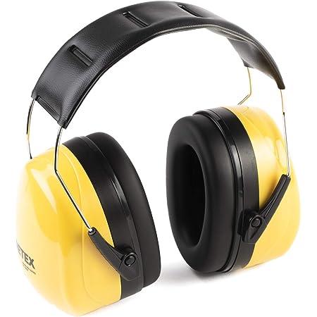 PRETEX Otoprotettore professionale, cuffie di protezione antirumore per suoni fino a SNR 31DB, comfort elevato, peso ridotto e archetto regolabile