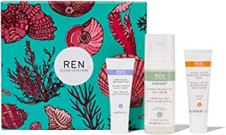 REN Clean Skincare Evercalm Face Favorites Gift Set ($86 Value) Evercalm Global Protection Day Cream + Glycol Lactic Radia...