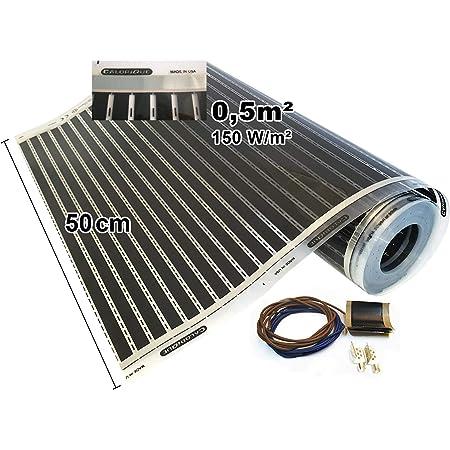 Calorique – Láminas de Calefacción por Suelo Radiante 50cm 150W/m² establece de 0.5m² Solución en Calefacción Efectiva y Ahorradora de Energía para el Hogar