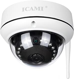 ICAMI HD Security Camera WiFi Dome IP Camera Wireless Home Surveuillance System Audio with Motion Detect (720P)