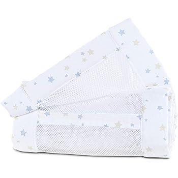 babybay Nestchen Mesh-Piqu/é passend f/ür Modell Original perlgrau Sterne wei/ß