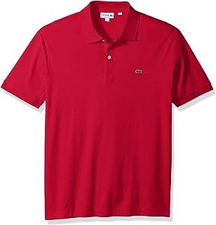 c26e07336b Lacoste Men's Short Sleeve Pima Jersey Interlock Regular Fit Polo