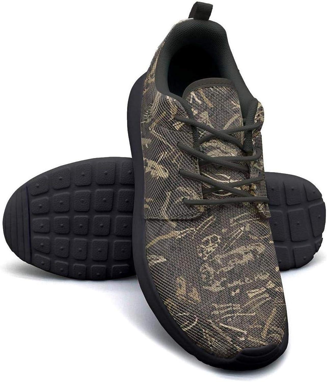 FGBCVBGFNDSF Breathable Lightweight Athletic Running Shoes Unisex Ancient-Dinosaur-Bones-Pattern