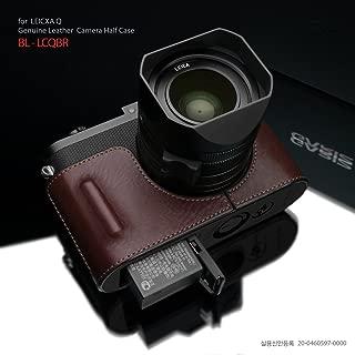 Gariz Black Label Genuine Leather BL-LCQBR Half Case for Leica Q Type 116, Brown