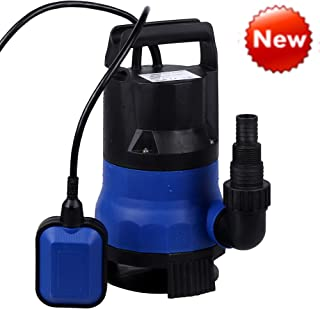 Sump Pump 1/2HP Clean Dirty Water Submersible Pump 400W Pump for Swimming Pool Drain (Blue)