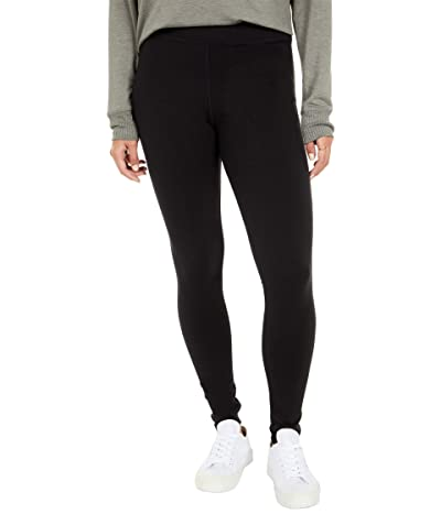 Splendid Wide Band French Terry Leggings (Black) Women