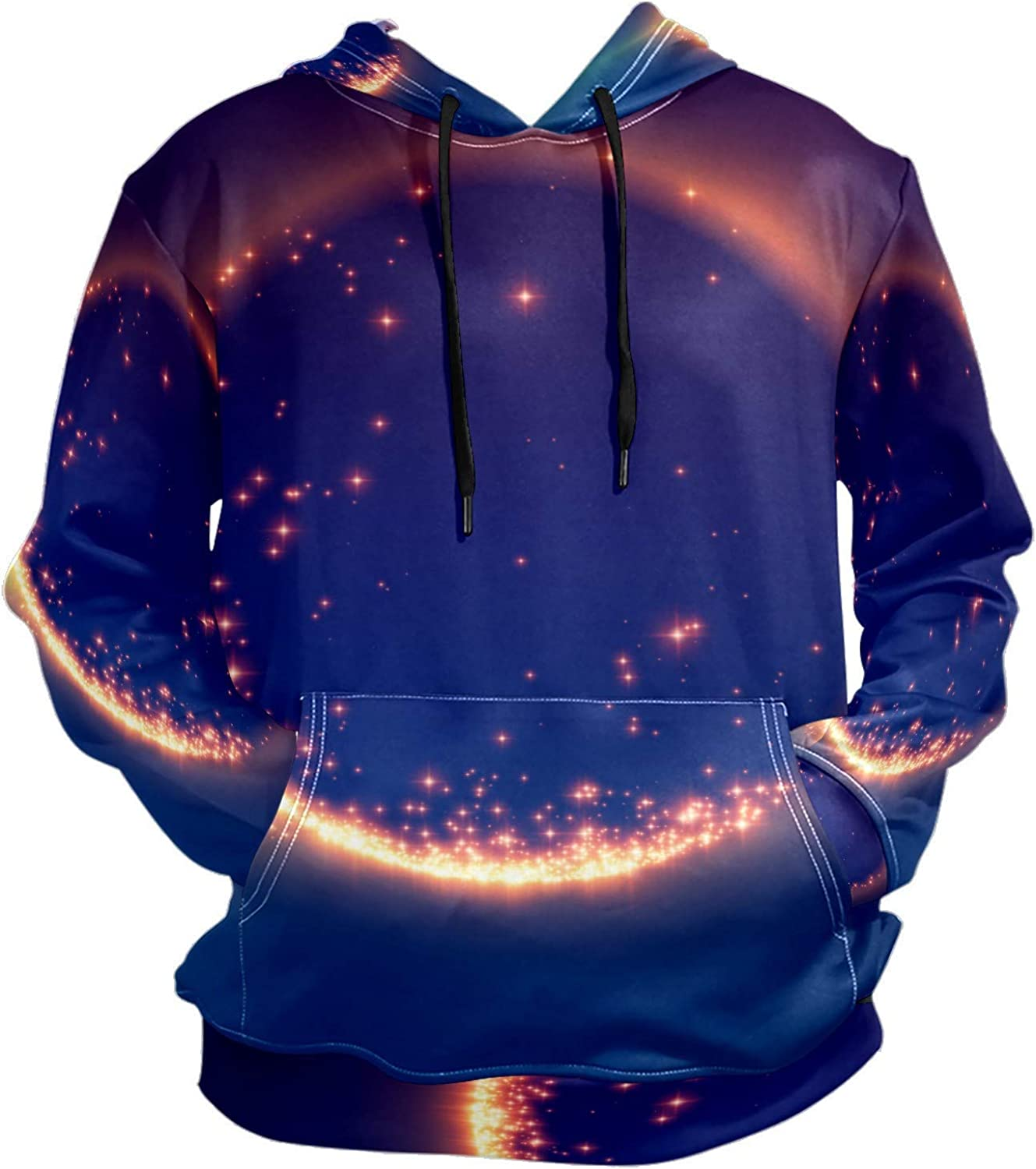 Abstract Universe Black Hole Mens Sport Hoodie Big and Tall Hoodies for Men Women Oversized Hooded Sweatshirt Hip Hop Pullover Hoodie Midweight Hood for Boys Girls
