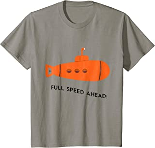 Kids Full Speed Ahead Submarine Ocean Sea T-shirt Boys Girls