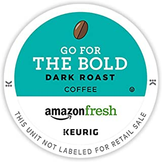 AmazonFresh 12 Ct. K-Cups, Go For the Bold Dark Roast, Keurig K-Cup Brewer Compatible