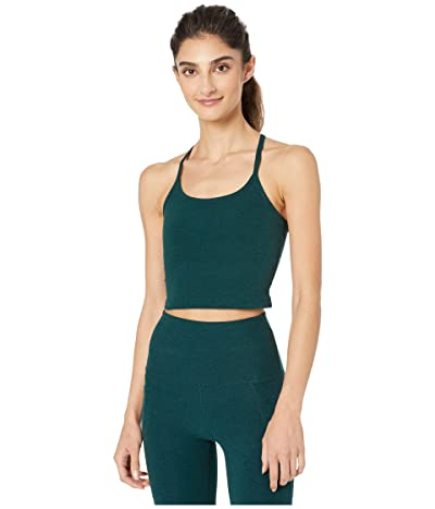 Beyond Yoga Spacedye Slim Racerback Cropped Tank Top (Hunter Green/Nocturnal Navy) Women