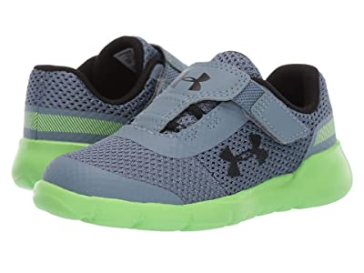 Under Armour Kids UA Inf Surge Running (Toddler) (Ash Gray/Lime Light/Black) Boys Shoes