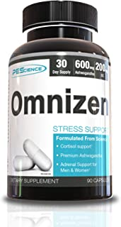PEScience Omnizen, Stress & Sleep Support with L-Theanine and KSM-66 Ashwaghanda, 90 Capsules