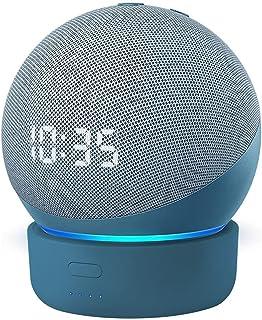 Base de bateria GGMM D4 base para Alexa Echo Dot de 4ª geração, carregador de bateria portátil com alto-falante inteligent...