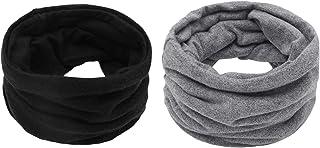 Richaa 2 unids señoras tubo bufanda snood, Snood cuello calentador super suave bufanda de punto llanura bufanda térmica in...