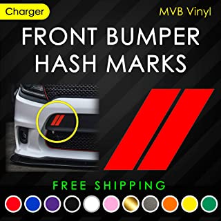 Front Bumper Hash Marks Vinyl Decal Body Graphics   Charger Challenger
