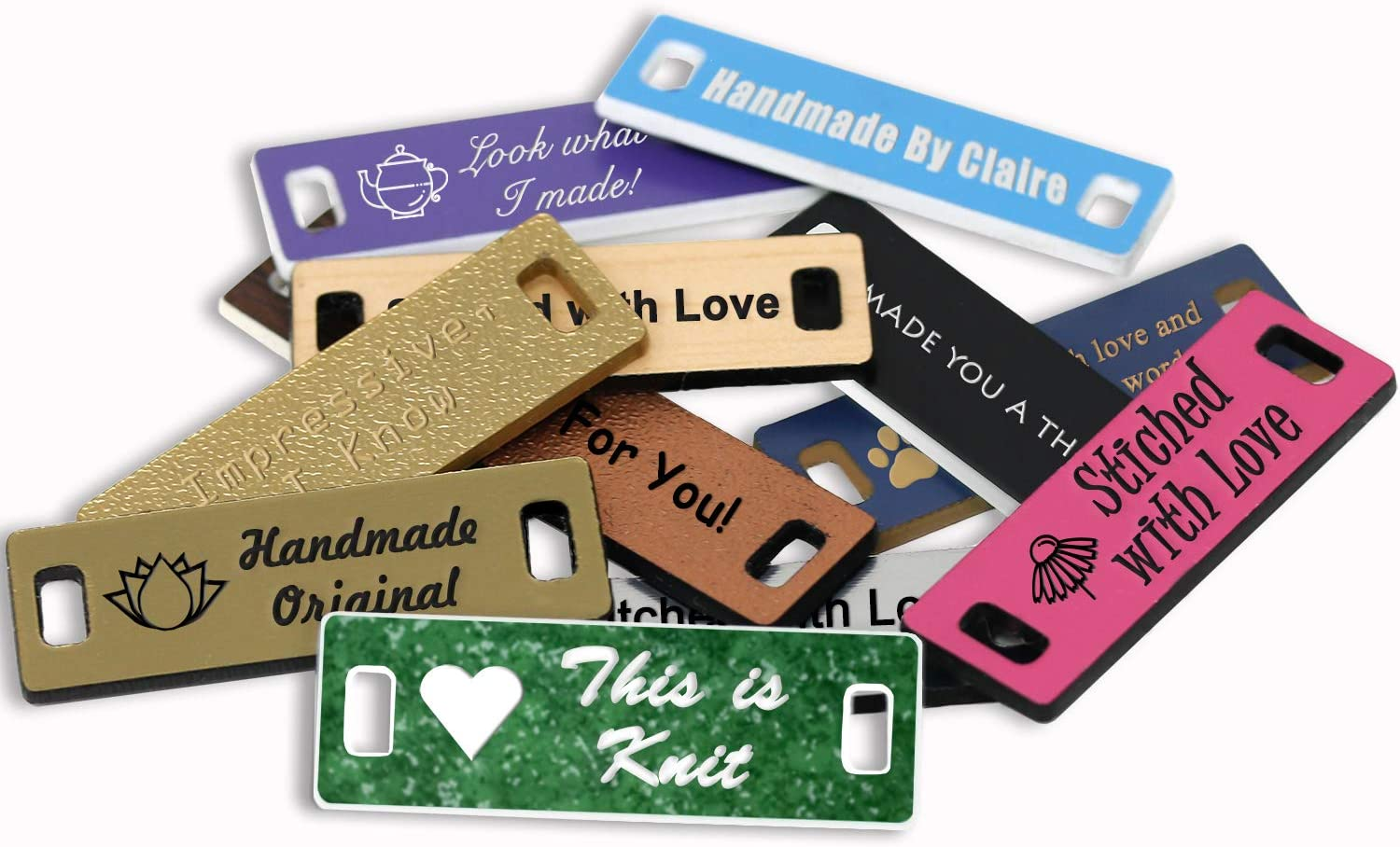 OFFicial shop LHS Limited price sale Engraving Personalized Hand Made Tags Custom Engraved Verd