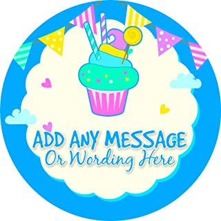 cupcake stickers personalized
