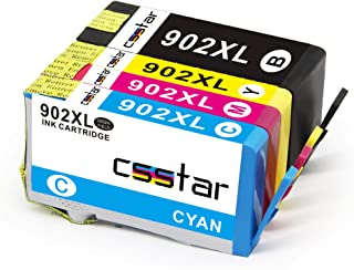CSSTAR Compatible Ink Cartridges Replacement for HP 902 XL 902XL Work with OfficeJet Pro 6968 6974 6975 6978 6960 6951 695...
