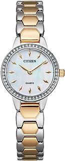 Citizen Women's Quartz Stainless Steel Strap, Multicolor, 12 Casual Watch (Model: EZ7016-50D)