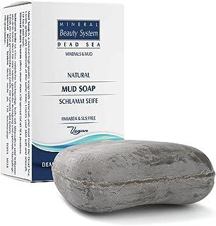 Totes Meer Schlamm Salz-Seife mit wertvollen Mineralien & Ölen aus Israel gegen Akne Pickel & unreine Haut - 100% Vegane Naturkosmetik - ohne Parabene & frei von SLS - 125g
