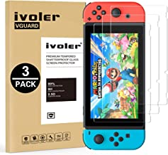 iVoler [3 Pack] Pellicola Vetro Temperato per Nintendo Switch, Pellicola Protettiva Protezione per Schermo per Nintendo Sw...