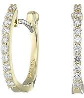 Roberto Coin - Perfect Diamond Huggy Earrings