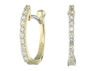 Roberto Coin Perfect Diamond Huggy Earrings (Yellow Gold) Earring