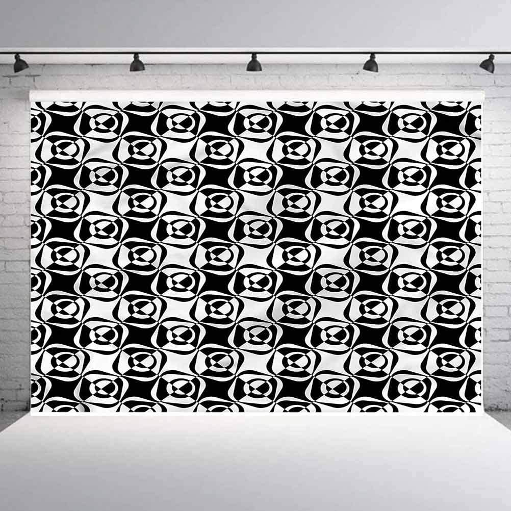 8x8FT Vinyl Backdrop Photographer,Animal,Fat Cartoon Cat Plays Violin Background for Party Home Decor Outdoorsy Theme Shoot Props