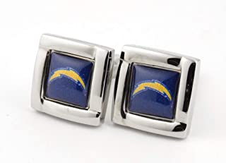 aminco NFL Logo Square Cufflinks with Gift Box Set