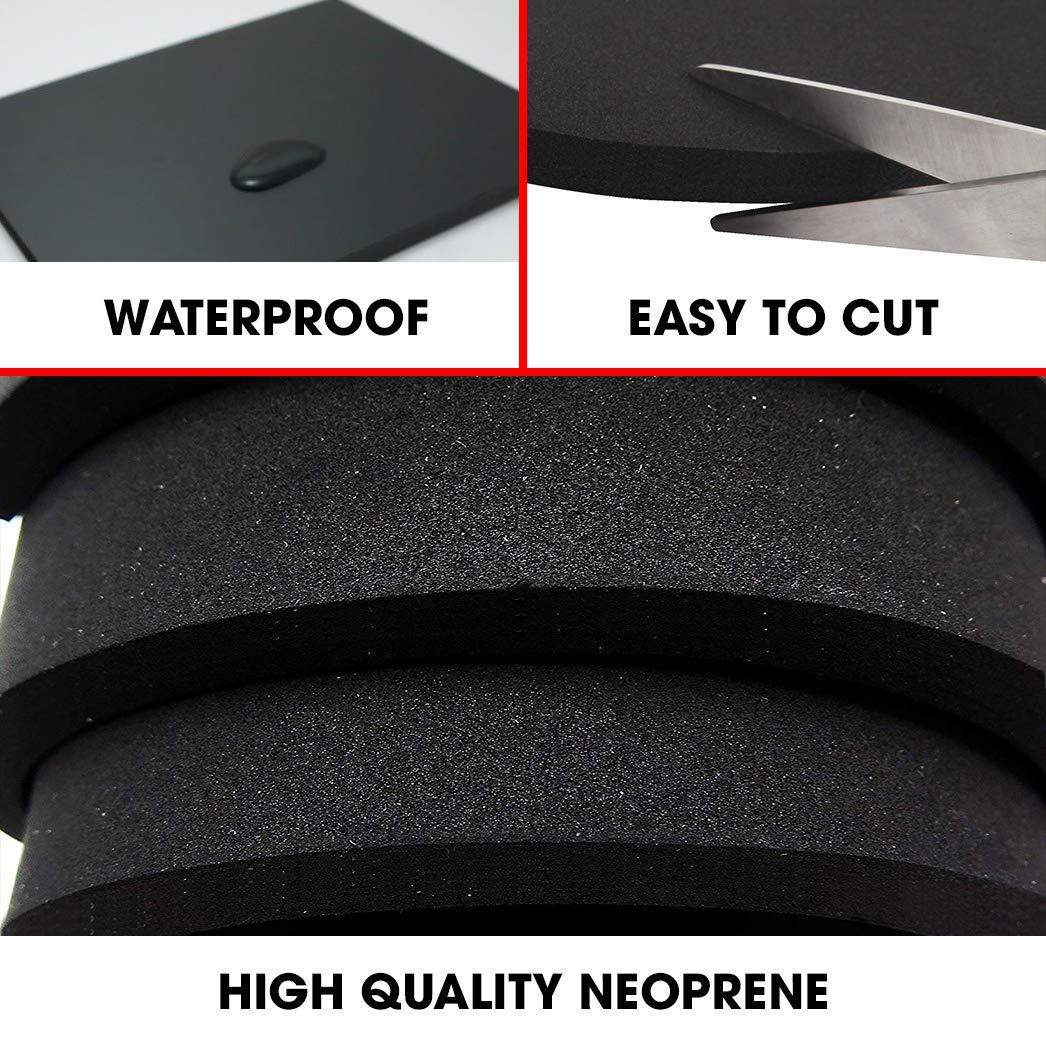 1//4-Inch Thick 12 Inc... XFasten Neoprene Sponge Foam Rubber Sheet Roll Black