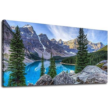wall art Canadian Rockies canvas art home d\u00e9cor Moraine Lake original acrylic painting