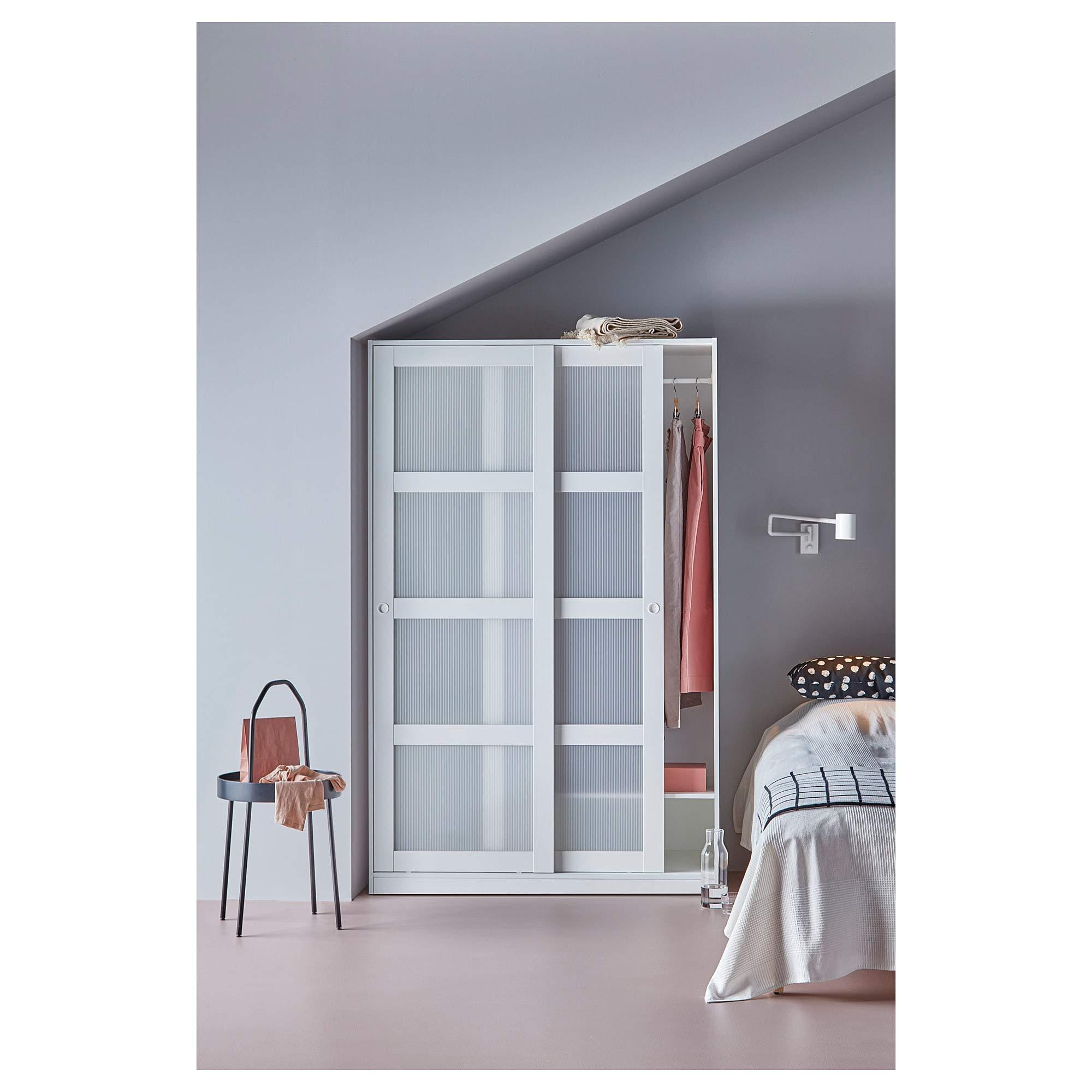 Ikea 1826.888.346 - Armario con 2 puertas correderas, color blanco ...