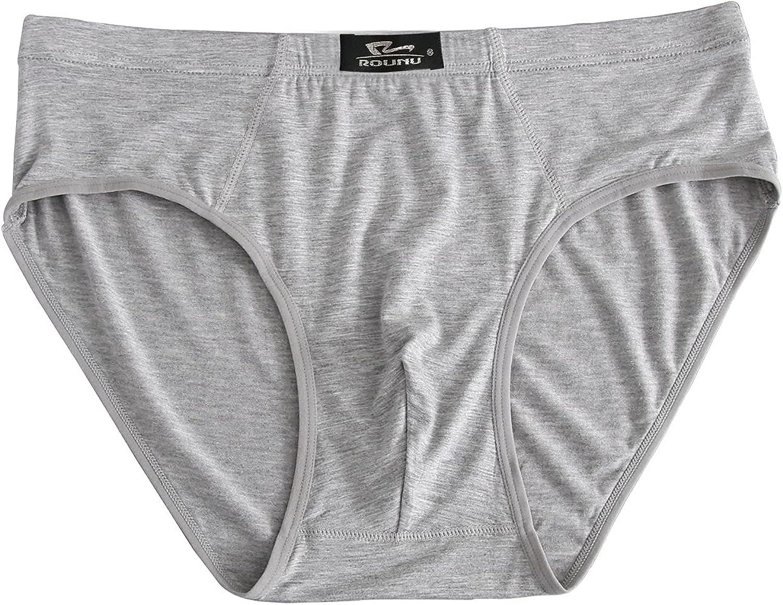 Men's Underwear Solid Color Mid-Waist Plus Fat Large Size Breathable Modal Underwear