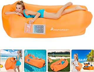 Inflatable Lounger Air Sofa Hammock-Inflatable Couch Air Chair Anti-Air Leaking Pouch Couch with Pillow and Carrying Bag for Outdoor Accessories for Parties, Travel,Camping