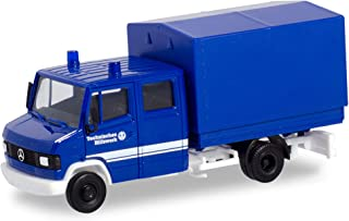 herpa 094801 Mercedes-Benz T2 Double cab with THW Canvas, Mini Vehicle