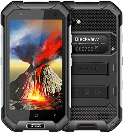 $154 Get Rugged Cell Phones Unlocked,Blackview BV6000S Unlocked Smartphones IP68 Waterproof,Android 7.0 4G Dual SIM,4.7 Inch Quad Core 2GB+16GB,4500mAh Battery,[MIL-STD 810G],NFC,for AT&T/T-Mobile,Black
