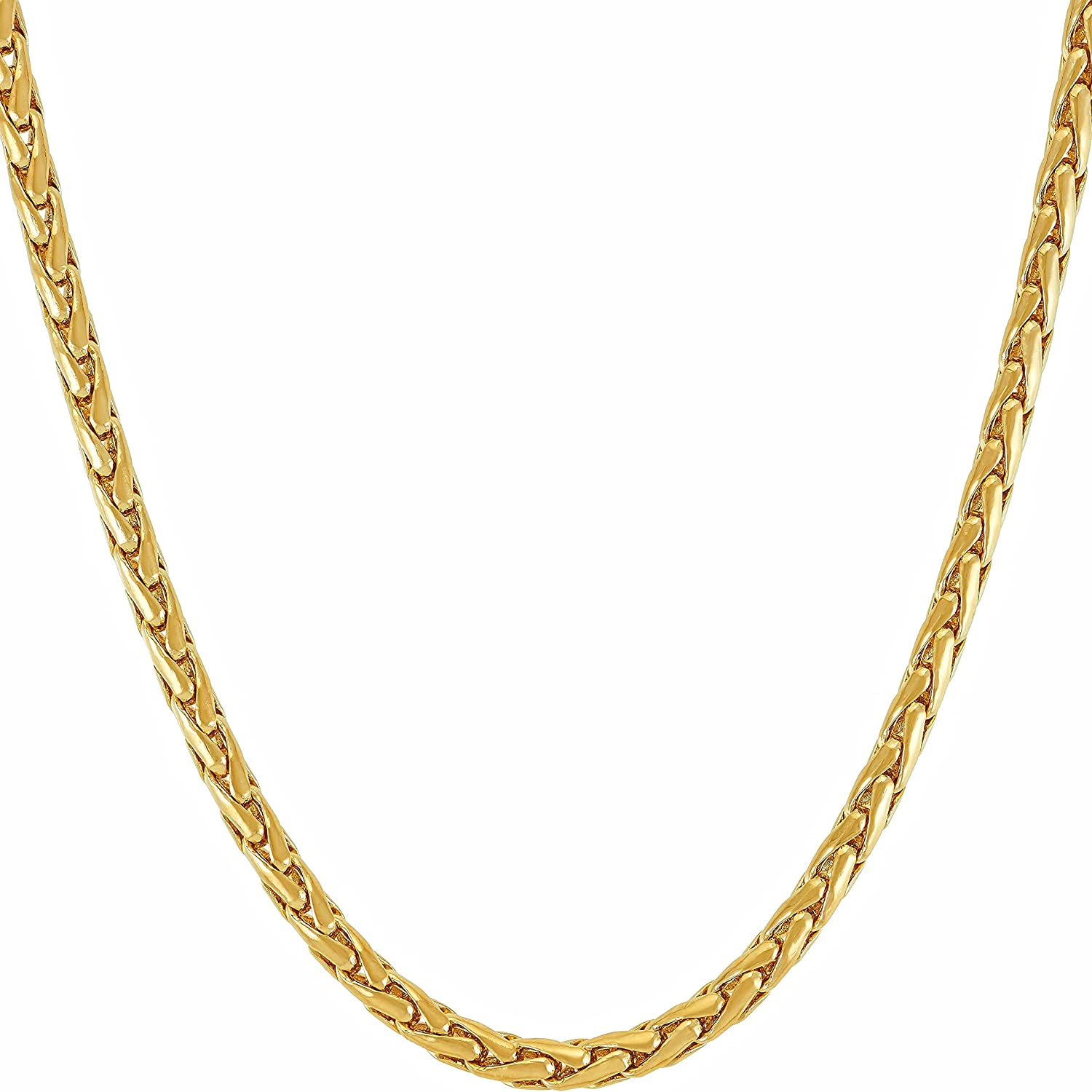 LIFETIME JEWELRY Weave Chain 国内在庫 Necklace for Real 24k 送料無料 新品 Men G Women