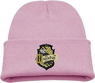 Youth Boys Cashmere Hat Slouchy Beanie Winter Hogwarts Hufflepuff Beanie Cap BeanieHat Beanies
