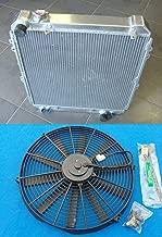Aluminum Radiator+Fan For Toyota Hilux surf KZN130 1KZ-TE 3.0 TD 1993-1996 94 95