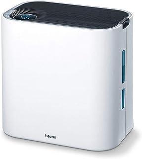 Beurer LR330 Purificador de aire con humidificador, hasta 35m2, 3 niveles de filtración, indicador humedad, temporizador, silencioso, filtro hepa, 60 W, Blanco