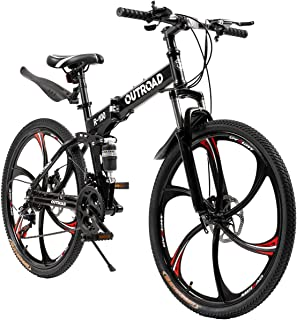 Ship from US 26 Inch Bike Mountain Bikes 21 Speed Folding Bicycle Full Suspension MTB Bike for Unisex Wesracia Outroad Mountain Bike for Adult Teens