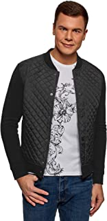 oodji Ultra Men's Quilted Jersey Jacket